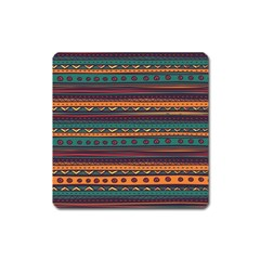 Ethnic Style Tribal Patterns Graphics Vector Square Magnet