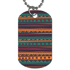 Ethnic Style Tribal Patterns Graphics Vector Dog Tag (two Sides)