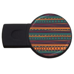 Ethnic Style Tribal Patterns Graphics Vector USB Flash Drive Round (1 GB)