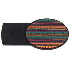 Ethnic Style Tribal Patterns Graphics Vector Usb Flash Drive Oval (2 Gb)