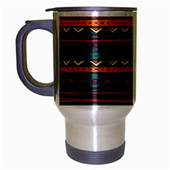 Ethnic Style Tribal Patterns Graphics Vector Travel Mug (silver Gray)