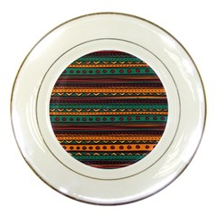 Ethnic Style Tribal Patterns Graphics Vector Porcelain Plates