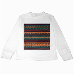 Ethnic Style Tribal Patterns Graphics Vector Kids Long Sleeve T Shirts