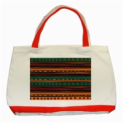 Ethnic Style Tribal Patterns Graphics Vector Classic Tote Bag (red)