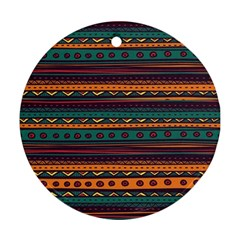 Ethnic Style Tribal Patterns Graphics Vector Round Ornament (two Sides)