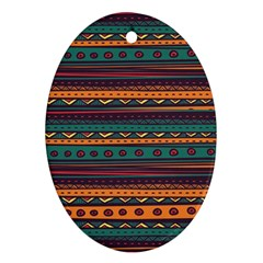 Ethnic Style Tribal Patterns Graphics Vector Oval Ornament (two Sides)