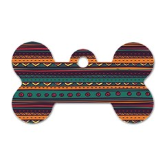 Ethnic Style Tribal Patterns Graphics Vector Dog Tag Bone (one Side)