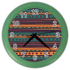 Ethnic Style Tribal Patterns Graphics Vector Color Wall Clocks