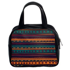 Ethnic Style Tribal Patterns Graphics Vector Classic Handbags (2 Sides)