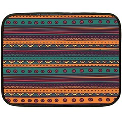 Ethnic Style Tribal Patterns Graphics Vector Double Sided Fleece Blanket (mini)