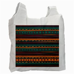 Ethnic Style Tribal Patterns Graphics Vector Recycle Bag (two Side)