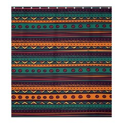 Ethnic Style Tribal Patterns Graphics Vector Shower Curtain 66  x 72  (Large)