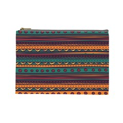 Ethnic Style Tribal Patterns Graphics Vector Cosmetic Bag (large)