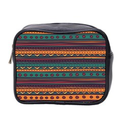 Ethnic Style Tribal Patterns Graphics Vector Mini Toiletries Bag 2 Side