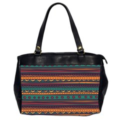 Ethnic Style Tribal Patterns Graphics Vector Office Handbags (2 Sides)