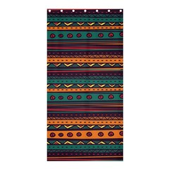 Ethnic Style Tribal Patterns Graphics Vector Shower Curtain 36  x 72  (Stall)