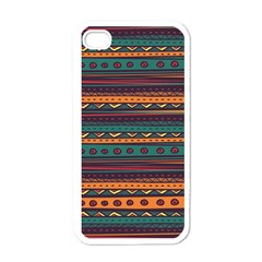Ethnic Style Tribal Patterns Graphics Vector Apple iPhone 4 Case (White)