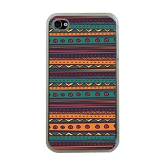 Ethnic Style Tribal Patterns Graphics Vector Apple iPhone 4 Case (Clear)