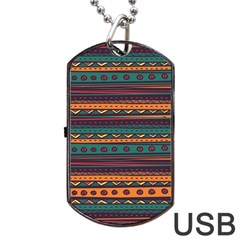 Ethnic Style Tribal Patterns Graphics Vector Dog Tag USB Flash (One Side)