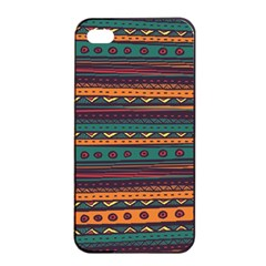 Ethnic Style Tribal Patterns Graphics Vector Apple Iphone 4/4s Seamless Case (black)