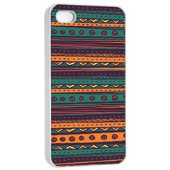 Ethnic Style Tribal Patterns Graphics Vector Apple iPhone 4/4s Seamless Case (White)
