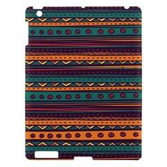 Ethnic Style Tribal Patterns Graphics Vector Apple Ipad 3/4 Hardshell Case