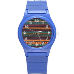 Ethnic Style Tribal Patterns Graphics Vector Round Plastic Sport Watch (s)