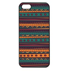 Ethnic Style Tribal Patterns Graphics Vector Apple iPhone 5 Seamless Case (Black)