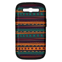 Ethnic Style Tribal Patterns Graphics Vector Samsung Galaxy S III Hardshell Case (PC+Silicone)