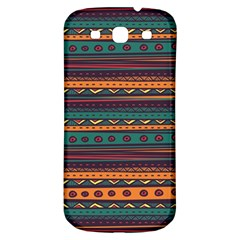 Ethnic Style Tribal Patterns Graphics Vector Samsung Galaxy S3 S Iii Classic Hardshell Back Case