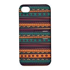 Ethnic Style Tribal Patterns Graphics Vector Apple Iphone 4/4s Hardshell Case With Stand