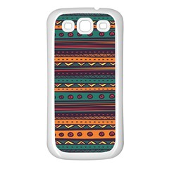 Ethnic Style Tribal Patterns Graphics Vector Samsung Galaxy S3 Back Case (White)