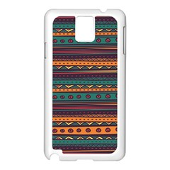 Ethnic Style Tribal Patterns Graphics Vector Samsung Galaxy Note 3 N9005 Case (White)