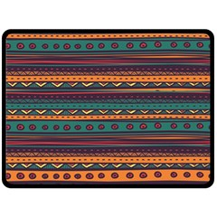 Ethnic Style Tribal Patterns Graphics Vector Double Sided Fleece Blanket (Large)