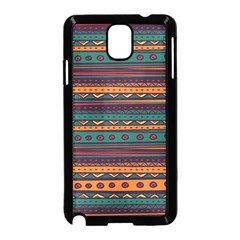 Ethnic Style Tribal Patterns Graphics Vector Samsung Galaxy Note 3 Neo Hardshell Case (black)
