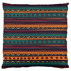 Ethnic Style Tribal Patterns Graphics Vector Large Flano Cushion Case (Two Sides)