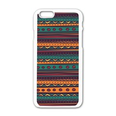 Ethnic Style Tribal Patterns Graphics Vector Apple Iphone 6/6s White Enamel Case