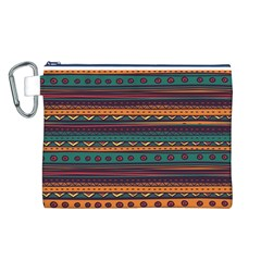 Ethnic Style Tribal Patterns Graphics Vector Canvas Cosmetic Bag (l)