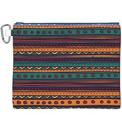 Ethnic Style Tribal Patterns Graphics Vector Canvas Cosmetic Bag (XXXL)