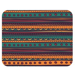 Ethnic Style Tribal Patterns Graphics Vector Double Sided Flano Blanket (Medium)
