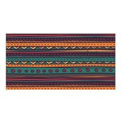 Ethnic Style Tribal Patterns Graphics Vector Satin Shawl
