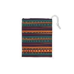 Ethnic Style Tribal Patterns Graphics Vector Drawstring Pouches (xs)