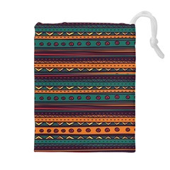 Ethnic Style Tribal Patterns Graphics Vector Drawstring Pouches (extra Large)