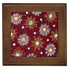 India Traditional Fabric Framed Tiles