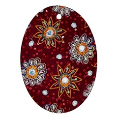 India Traditional Fabric Ornament (Oval)