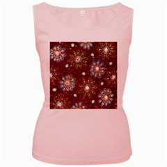 India Traditional Fabric Women s Pink Tank Top