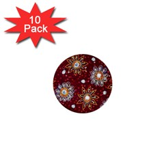 India Traditional Fabric 1  Mini Buttons (10 Pack)