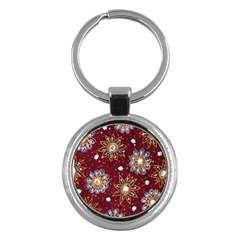India Traditional Fabric Key Chains (round)