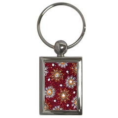 India Traditional Fabric Key Chains (Rectangle)