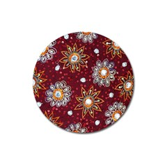India Traditional Fabric Magnet 3  (round)